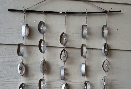 فیلم آموزش آویز دیوار با حلقه های مقوایی