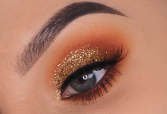 فیلم آموزش آرایش چشم طلایی