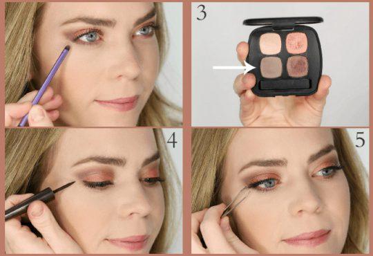 آموزش آرایش چشم ساده و شیک