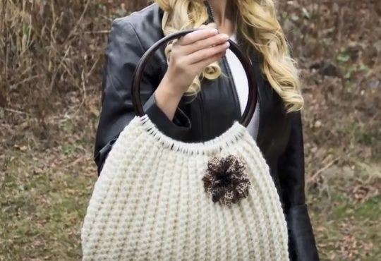 فیلم آموزش بافت کیف دستی زیبای قلاب بافی
