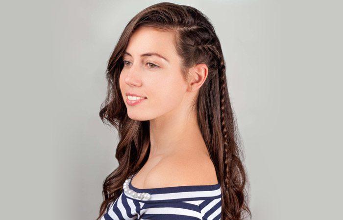 آموزش مدل موی ساده با بافت