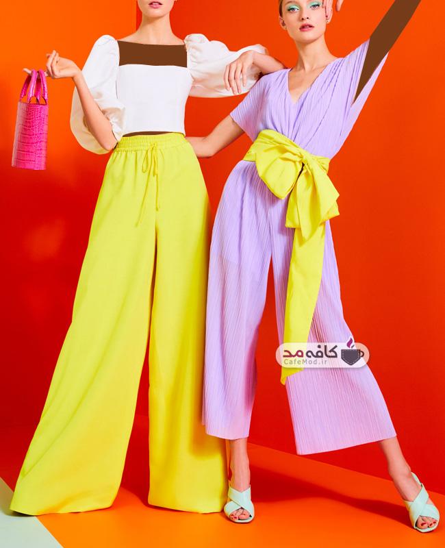 مدل لباس زنانه رنگی