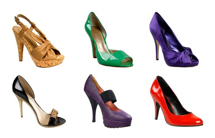 روش های ست کردن کفش های پاشنه بلند رنگی