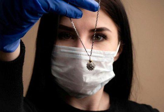 جواهرات کرونایی ساخته شد
