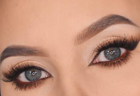 فیلم آموزش آرایش چشم گربه ای قهوه ای
