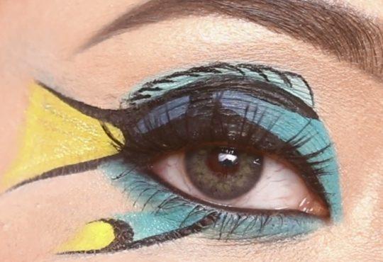 فیلم آموزش آرایش چشم طرح ماهی