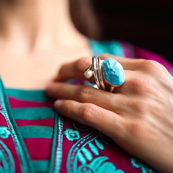 مدل زیورآلات دست ساز نقره و سنگ