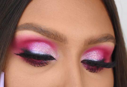 فیلم آموزش آرایش چشم بنفش تابستانه زیبا