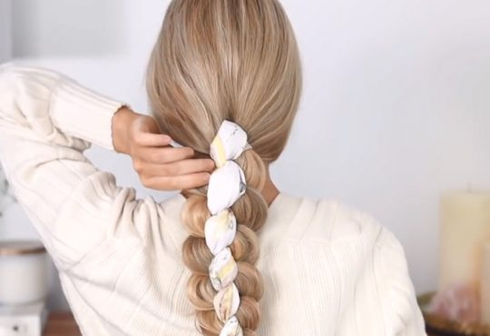 فیلم آموزش بافت موی زیبا با روسری
