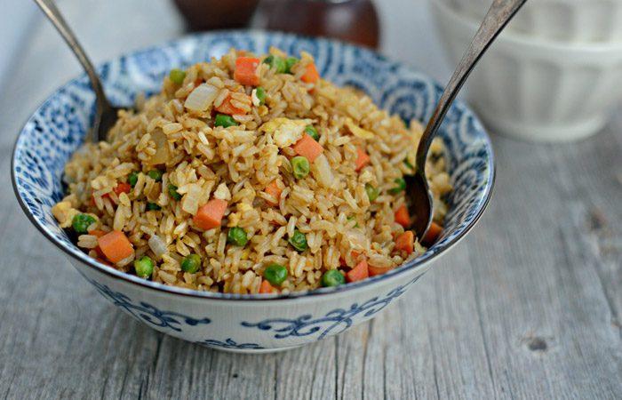 طرز تهیه برنج سرخ کرده چینی