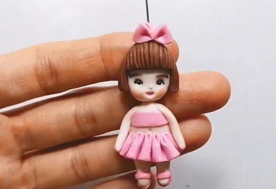 فیلم آموزش ساخت عروسک کوچک با خمیر فیمو