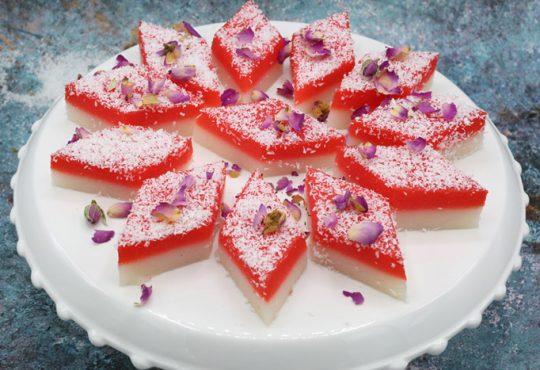 حلوای قرمز و سفید