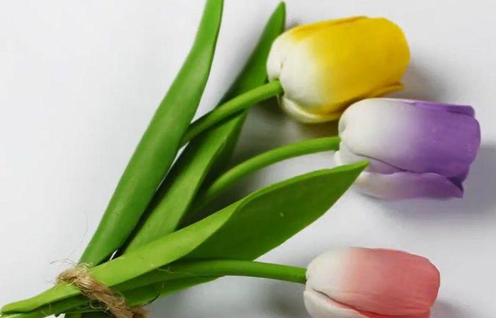 فیلم آموزش درست کردن گل لاله با خمیر فیمو