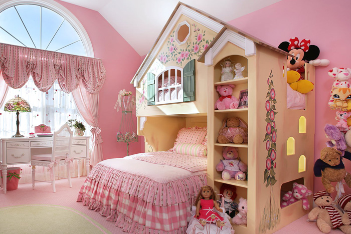 چیدمان اتاق خواب دخترانه