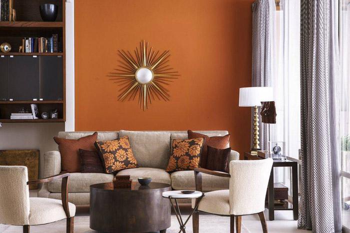 رنگ آجری دیوار در دکوراسیون منزل