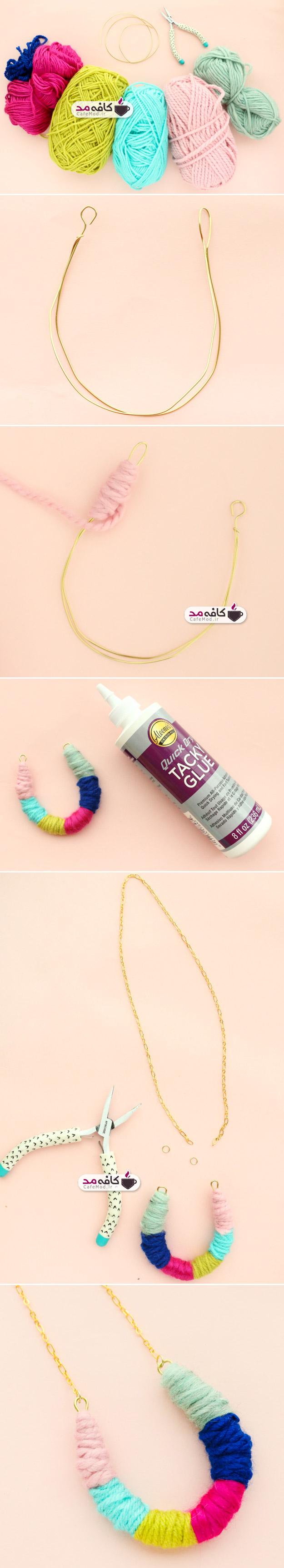 ساخت گردنبند رنگارنگ