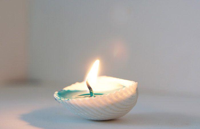 درست کردن شمع های صدفی