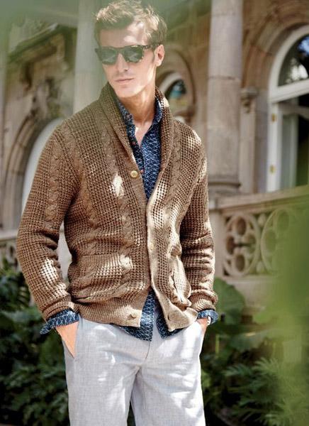 نحوه پوشیدن ژاکت با پیراهن