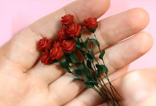 فیلم آموزش دسته گل های رز مینیاتوری