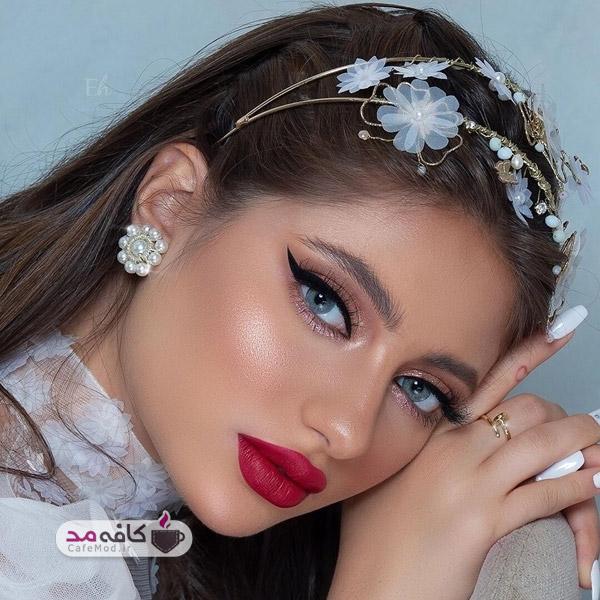 مدل آرایش صورت با رنگ های زیبا