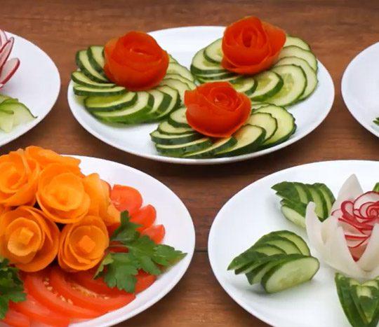 فیلم آموزشی تزیین سبزیجات