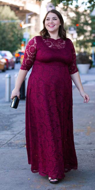 لباس مجلسی مناسب خانم های چاق