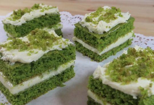 فیلم آموزش درست کردن کیک سبز