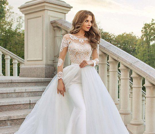 لباس عروسی آستین دار