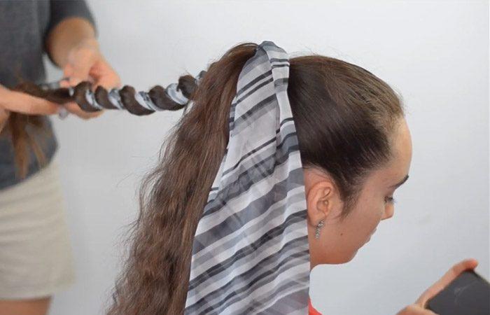 فیلم آموزش بستن مو با روسری