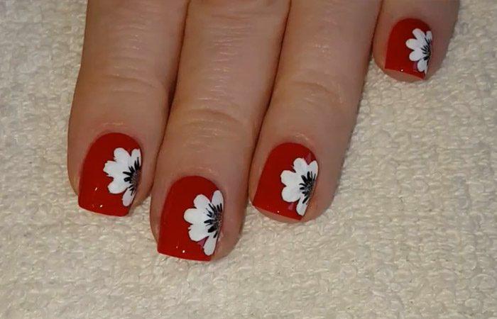 فیلم آموزش طرح گل روی ناخن ها