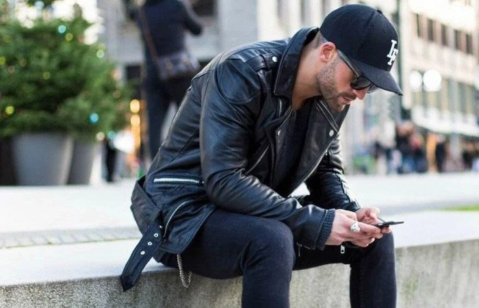 شلوار جین مشکی مردانه
