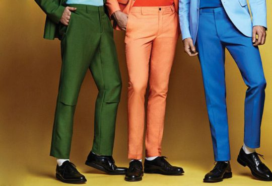 شلوار مردانه رنگی