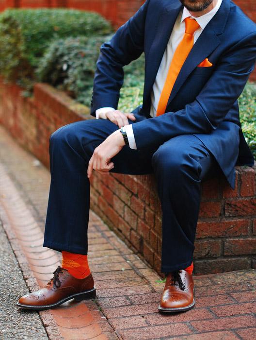 استایل نارنجی برای آقایان