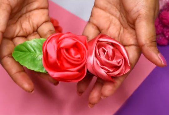 گیره مو با گل های روبانی