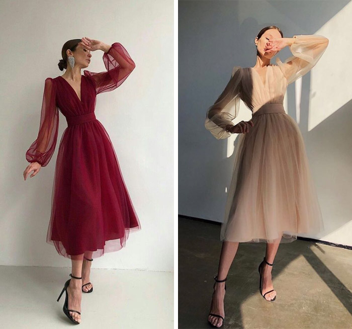 لباس مجلسی خانم های لاغر