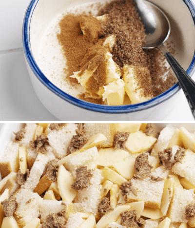 طرز تهیه فرنچ تست سیب و دارچین