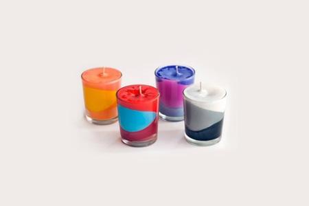 آموزش شمع هاي رنگي  2