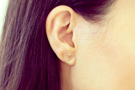 آموزش گوشواره قلبي  2