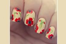 آموزش ناخن های گلدار