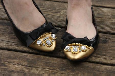 آموزش مدل تزئین کفش  2