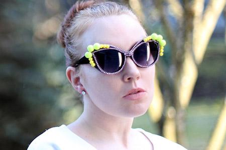 آموزش مدل عینک آفتابی  2