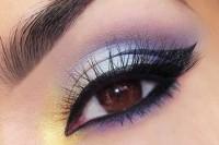 آموزش مدلی برای آرایش چشم