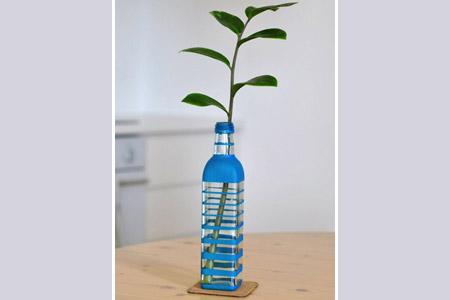 آموزش مدل گلدان با شیشه  2