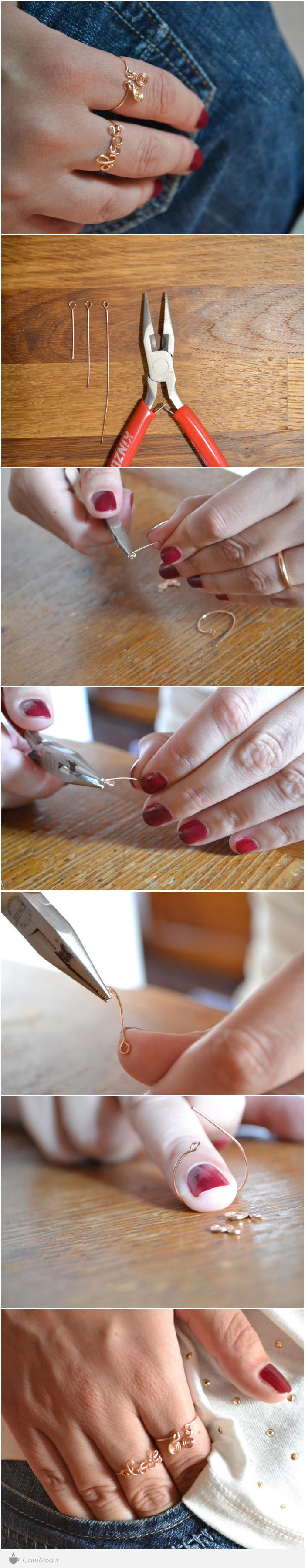 آموزش تصویری ساخت انگشتر با سیم
