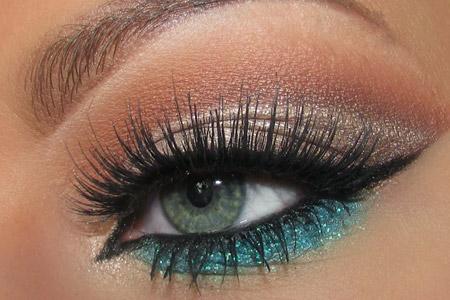 آموزش آرایش چشم عروس 2