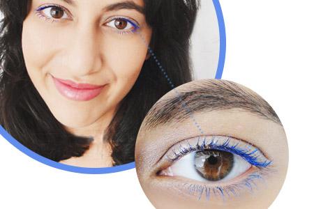 رنگ آبی در آرایش چشم