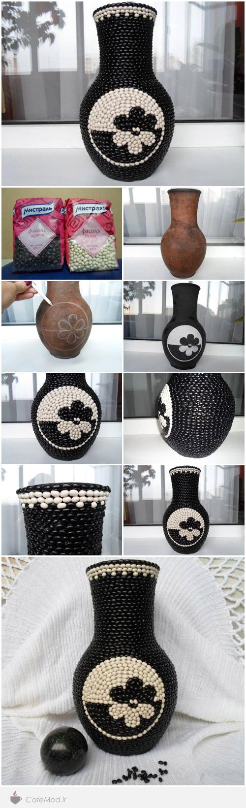 آموزش مدل تزئین گلدان