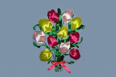 آموزش تابلو گل لاله  2
