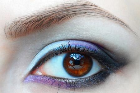 مدل آرایش یاسمنی چشم