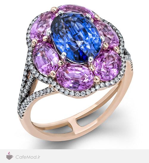 مدل انگشتر سنگ رنگی